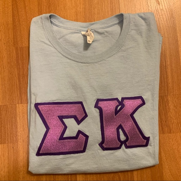 Sigma Kappa Letters (Crew Neck T-Shirt)